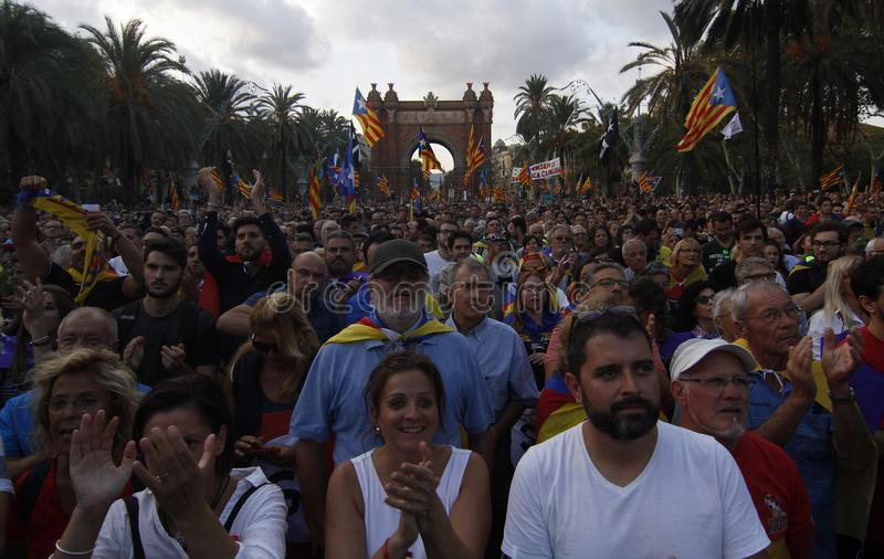 Catalan Independence declaration stock images