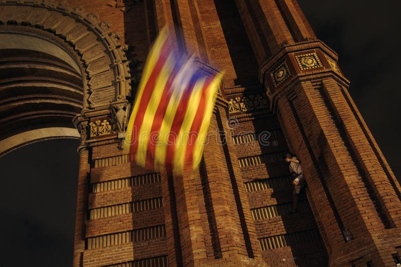 Catalan Independence declaration royalty free stock photos