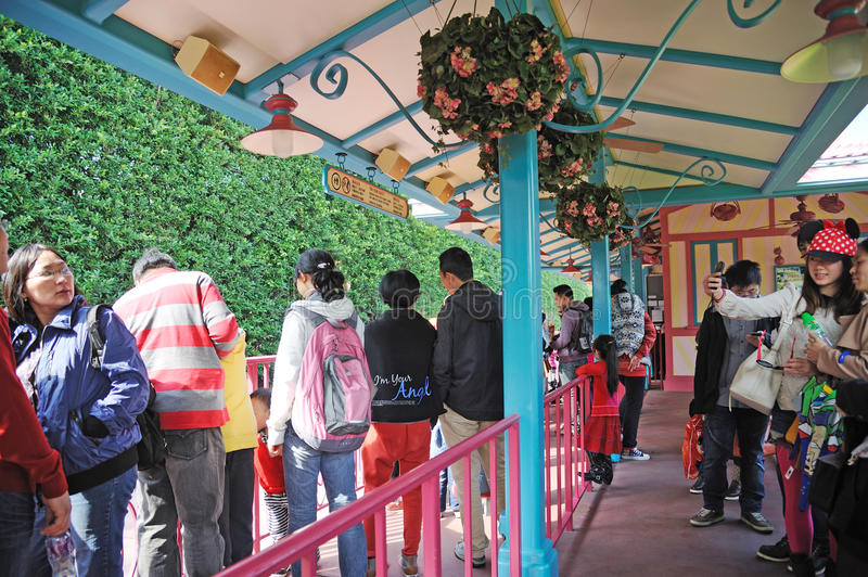 Download People Wait Train  In Hong Kong Disneyland Editorial Image - Image: 23491730