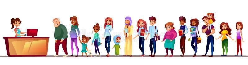 People waiting in queue vector illustration vector illustration