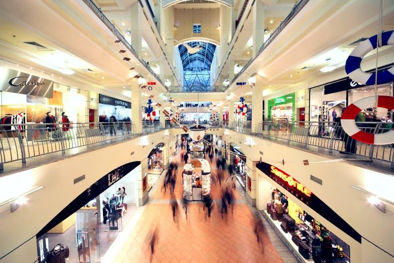 People Walk In Atrium Mall Editorial Stock Photo