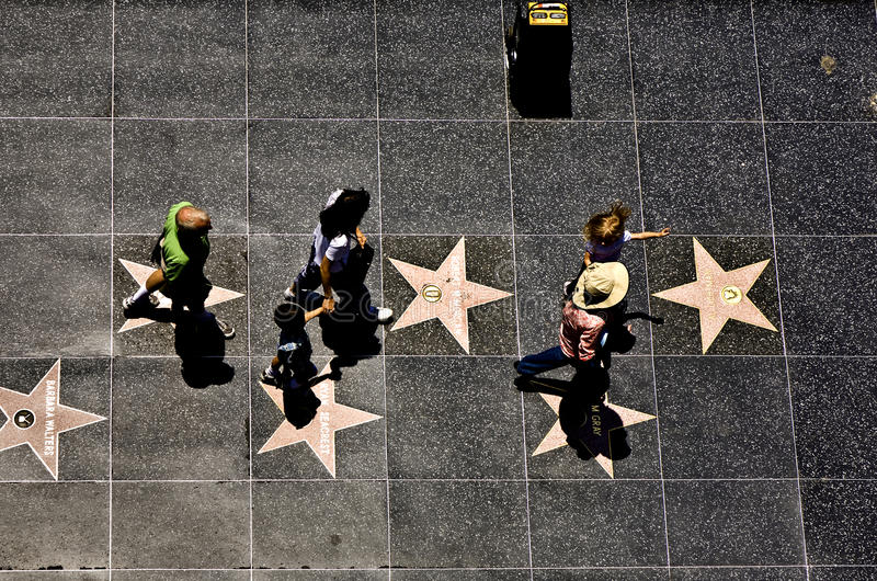 People at the walk of fame royalty free stock photography