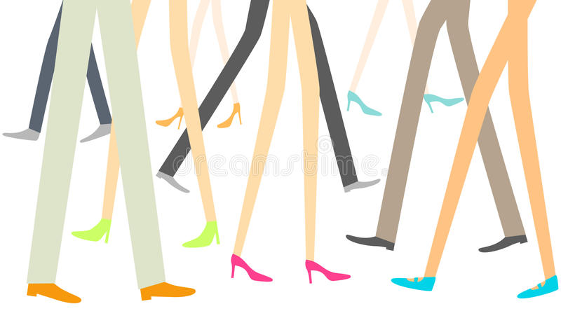 Download People walking stock vector. Image of young, color, body - 15029989