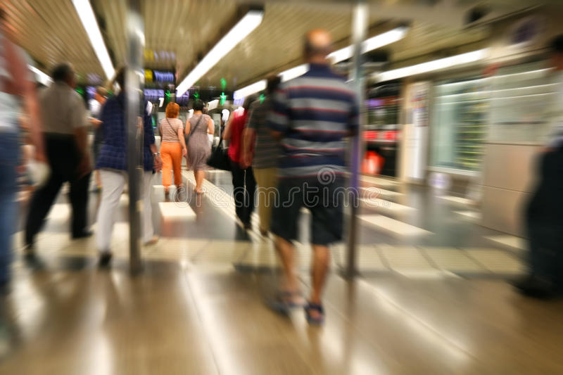 Download People Walking stock image. Image of move, spain, blurred - 16721951