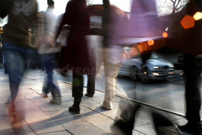 Download People walking stock photo. Image of hurry, hotfoot, crowded - 7108586