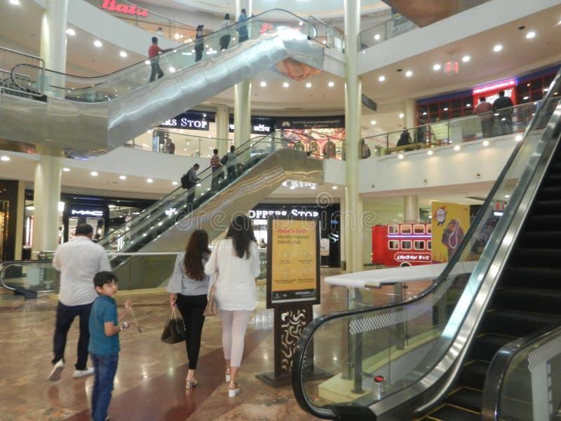 People are walking ans shopping at viviana mall, mumbai, india, 23rd September 2017 royalty free stock image