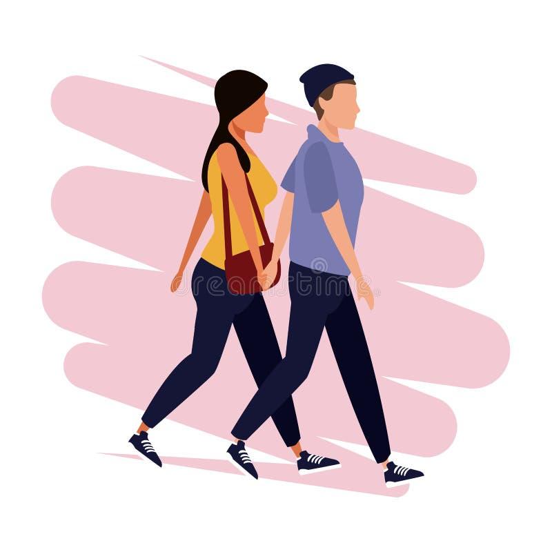 People walking avatar. Vector illustration graphic design stock illustration