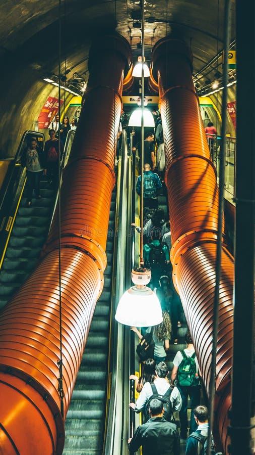 People Walking On Escalator Free Public Domain Cc0 Image