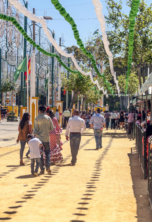 People walking at the fair royalty free stock photo