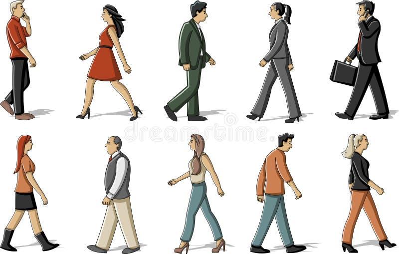 People walking vector illustration