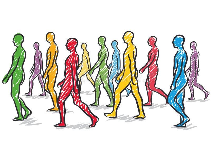People Walking Stock Vector - Image: 44982211