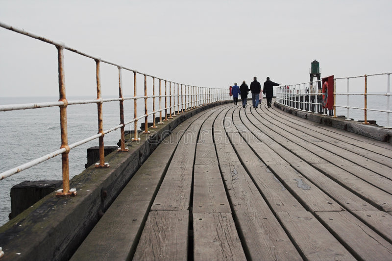 People Walking On Pier Royalty Free Stock Images