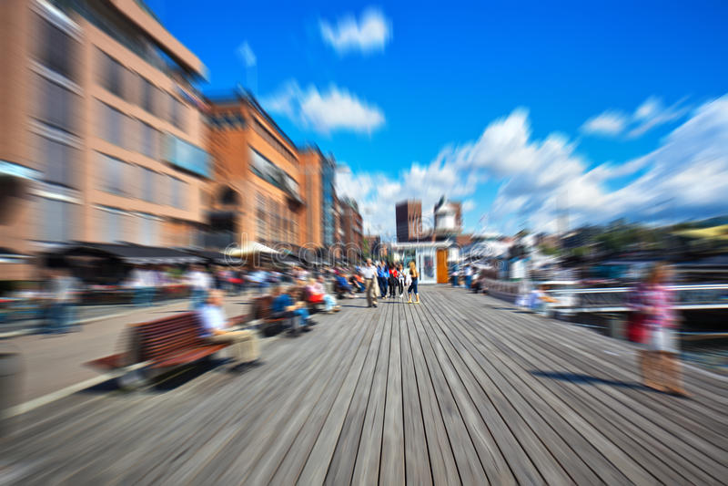 Download People Walking On Quay Stock Image - Image: 25232531