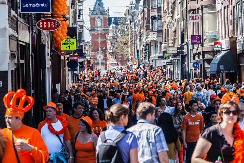 Download People Walking In The Streets - Koninginnedag 2012 Editorial Stock Photo - Image: 24784118