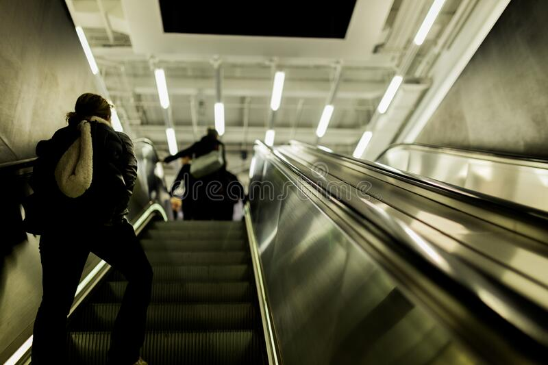 People Walking Up On Escalator Free Public Domain Cc0 Image