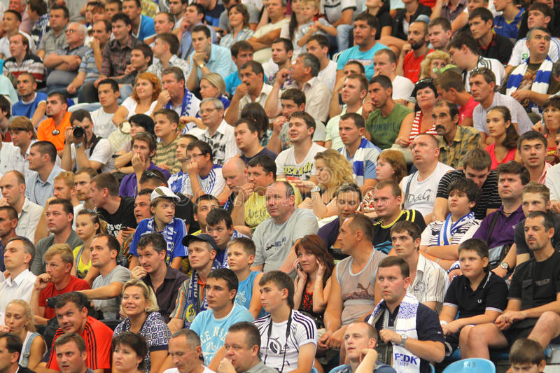 Download People Watch The Football Game Editorial Stock Photo - Image: 20434348