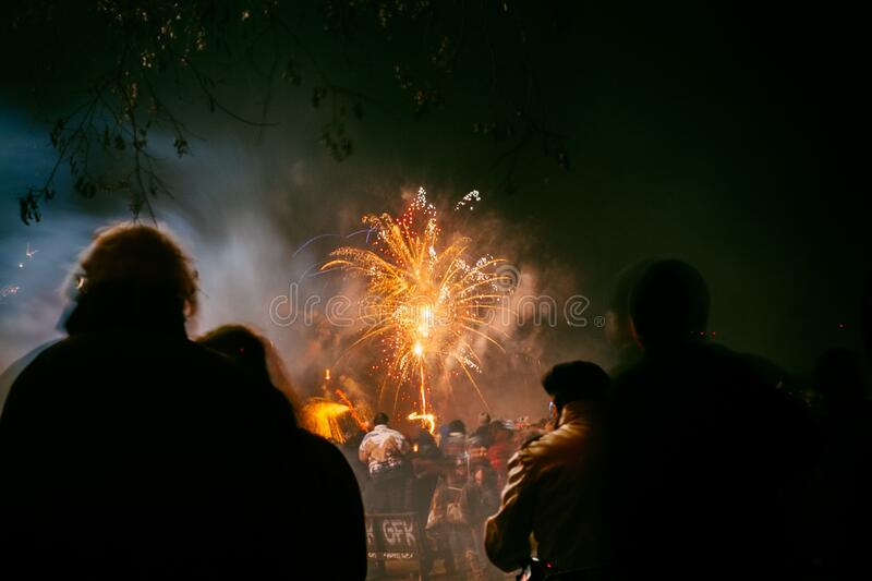 People Watching Fireworks Free Public Domain Cc0 Image