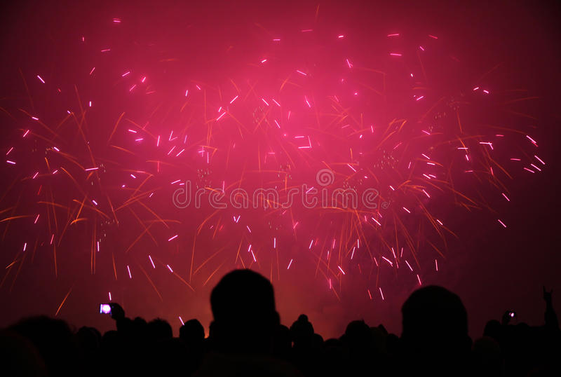 Download People Watching The New 2011 Year's Fireworks Editorial Image - Image: 18523850