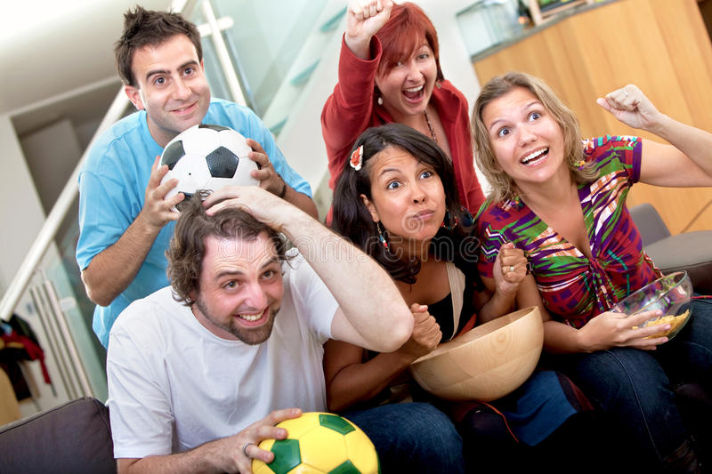 Download People watching soccer stock image. Image of game, watching - 12310743