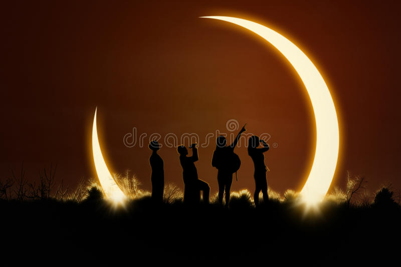 Download People Watching Solar Eclipse Stock Photo - Image: 67797080