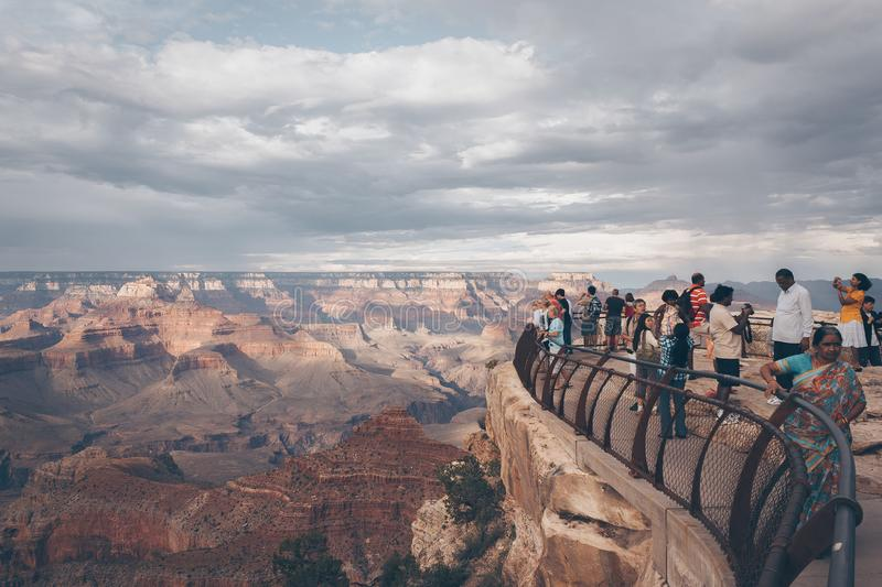 People Watching View from Top of Mountain royalty free stock image
