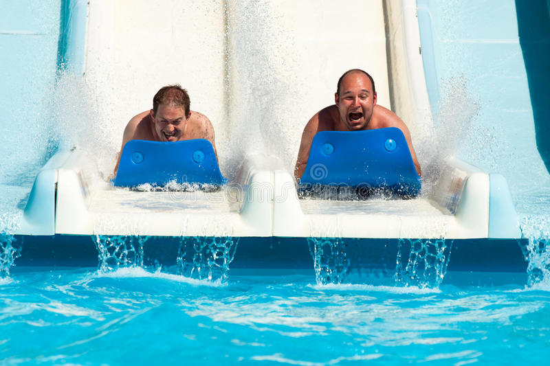 People at water park royalty free stock images