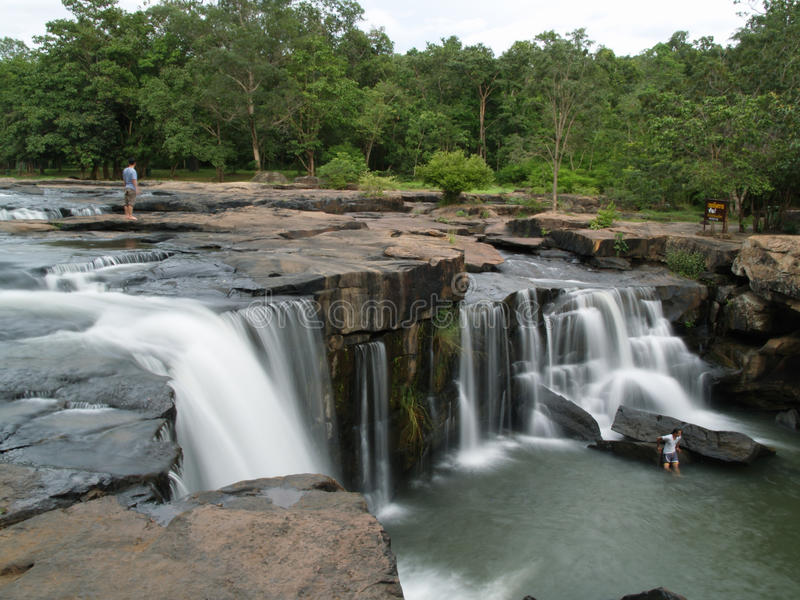 Download People At A Waterfall In Thailand Editorial Stock Image - Image: 25153964