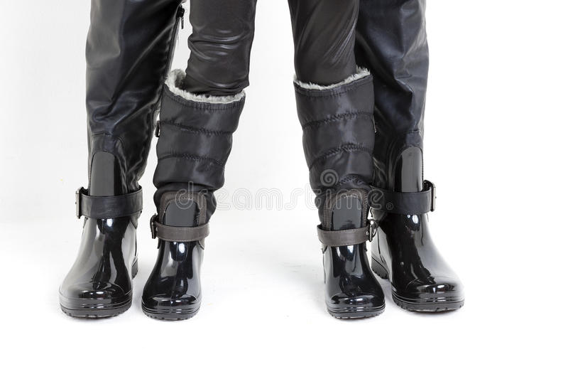 People Wearing Black Boots Royalty Free Stock Photo