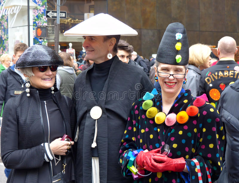 Enjoying the Easter Bonnet Parade stock image