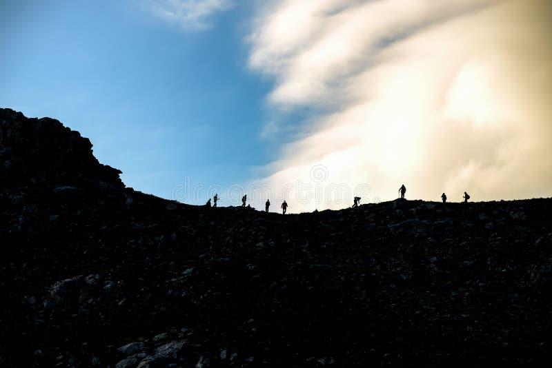 people who love mountaineering stock photos