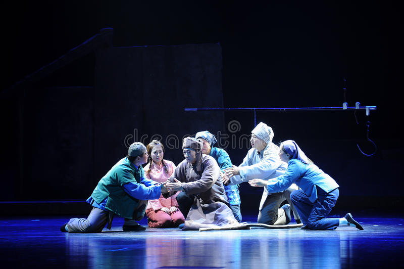 People will die, his words are good- Jiangxi opera a steelyard. Jiangxi opera a steelyard is adapted from a true story: the last century fortys, the protagonists royalty free stock photography