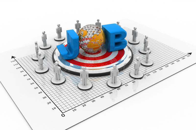 People with the Word 'JOBS' stock illustration