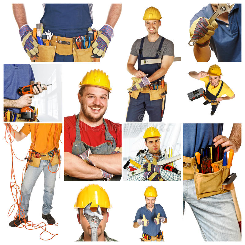 People at work stock image