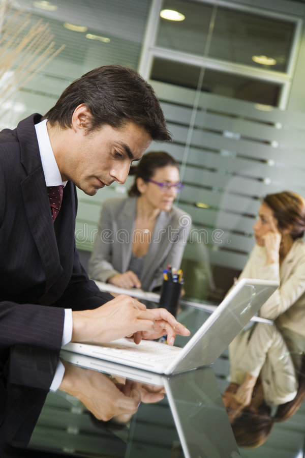 People At Work Royalty Free Stock Photos
