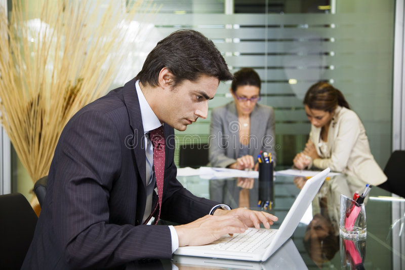 People at work royalty free stock photography