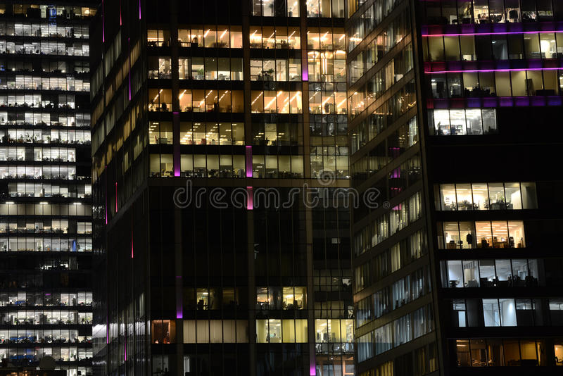 People work in an office buildings. People work in an office buildings in Moscow city district, Moscow, January 16, 2015 stock photos