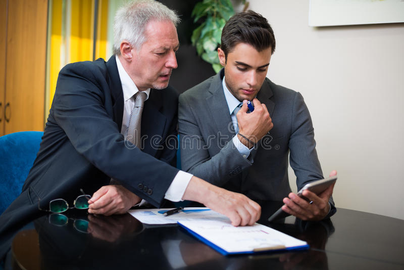 People at work in their office stock image