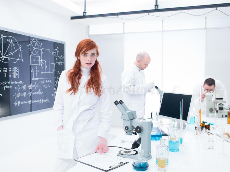 Download People Working In A Chemistry Lab Stock Image - Image of college, costume: 31258873