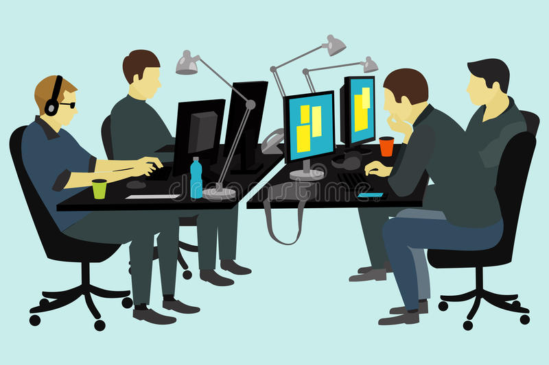 People working at the desk. royalty free stock image