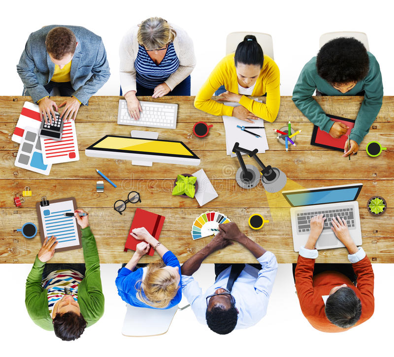 People Working in the Office Photos and Illustration royalty free stock images