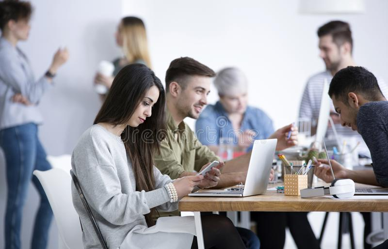 People working in office royalty free stock photos