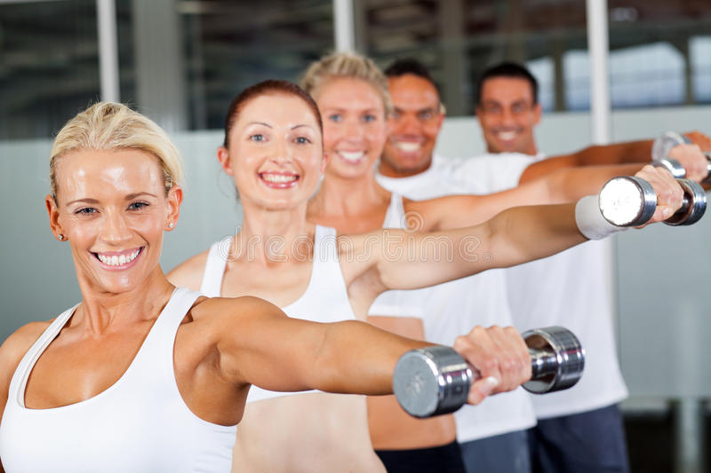 Download People working out stock image. Image of pretty, gymnasium - 24727985