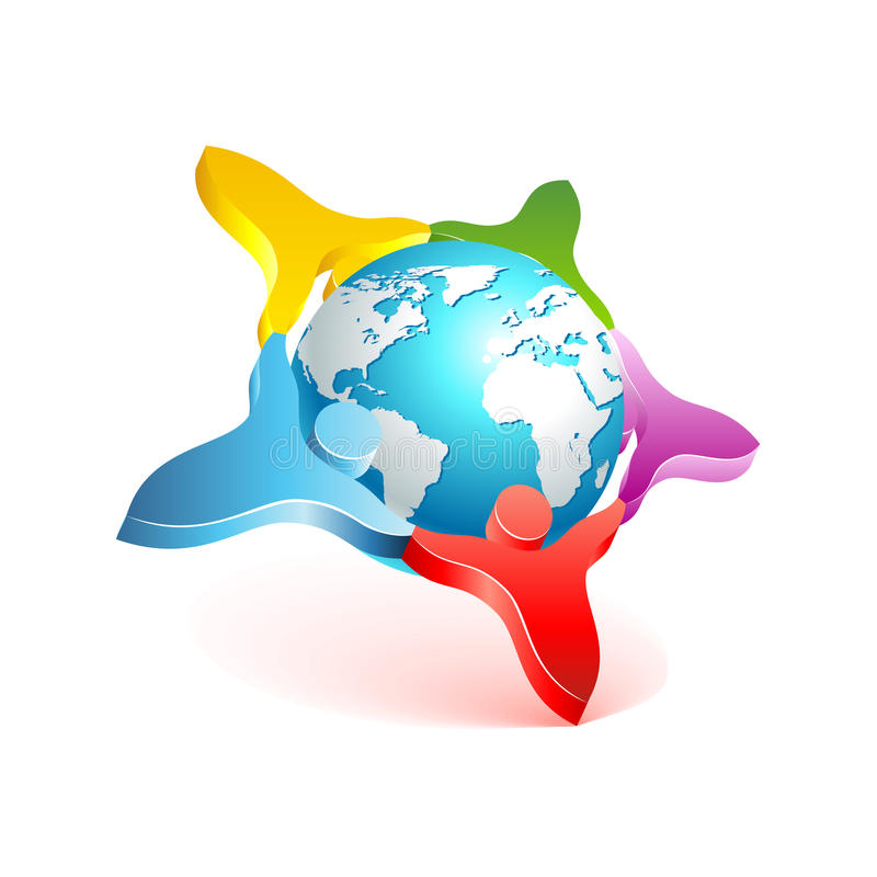 People world 3d icon. Vector design element royalty free illustration