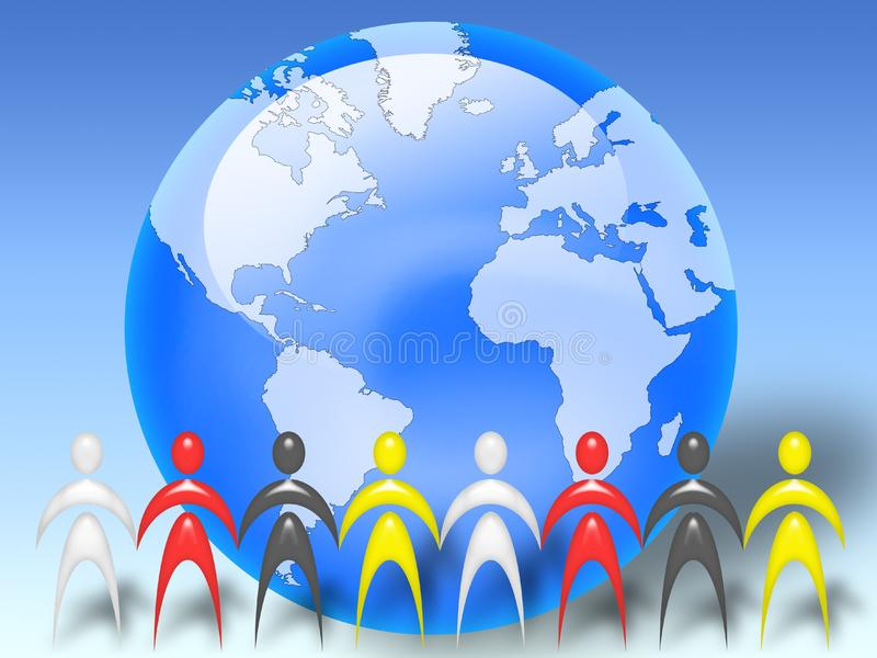 People of the world royalty free stock images