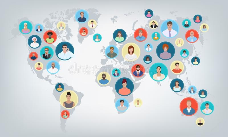 People world map vector illustration stock vector illustration of download people world map vector illustration stock vector illustration of meeting family gumiabroncs Gallery