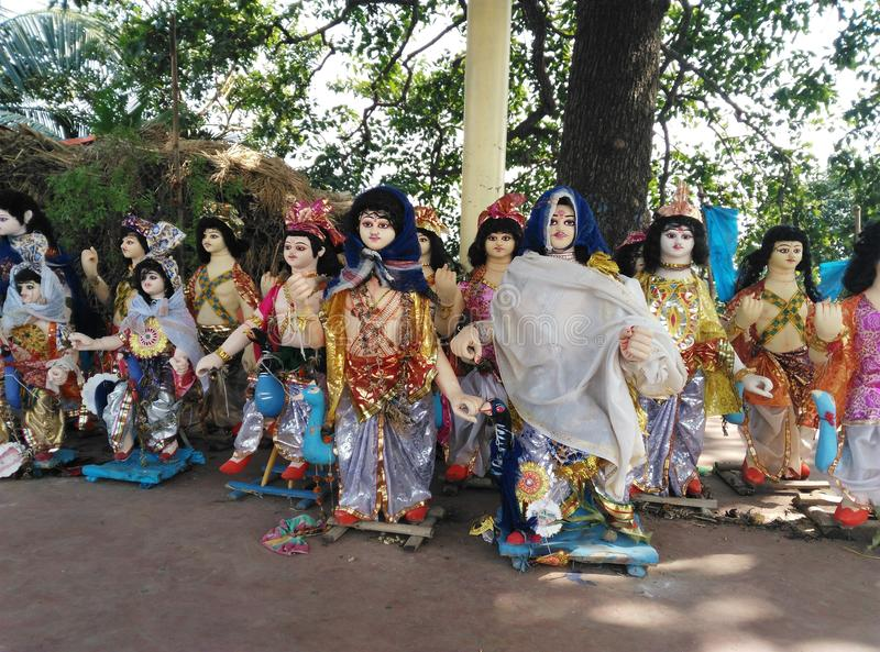 God Kartikeya Idols royalty free stock image