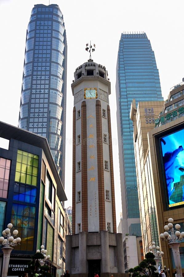 People wyzwolenia zabytek, Chongqing, Chiny zdjęcia royalty free