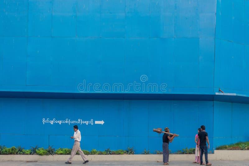 People of Yangon royalty free stock photography
