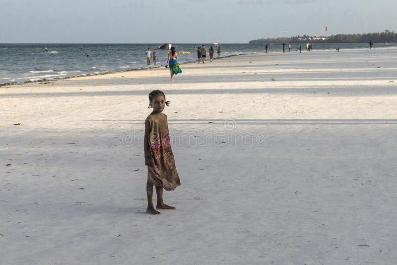 People on Zanzibar beach stock photography