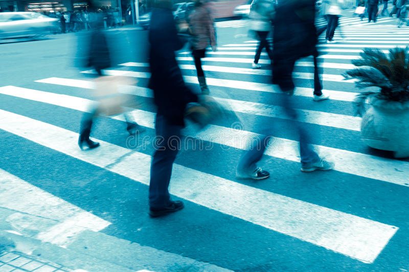 People on zebra crossing stock image